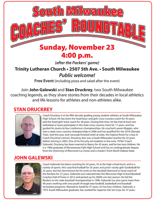 Coaches Roundtable flyer