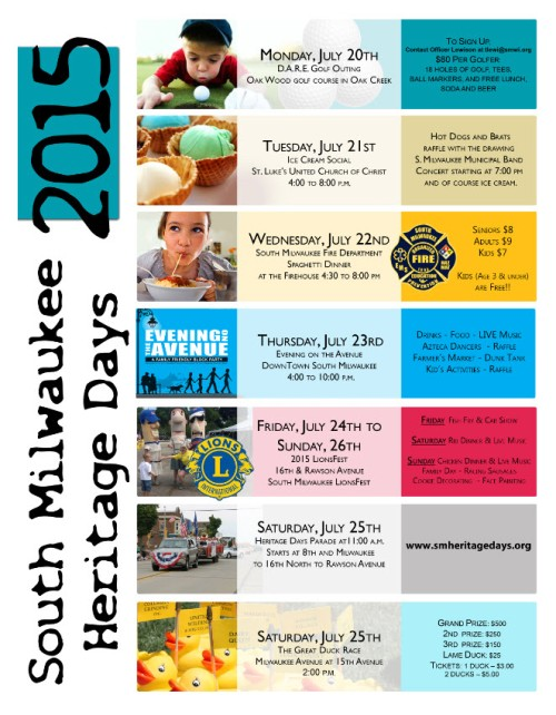Heritage Days schedule 2
