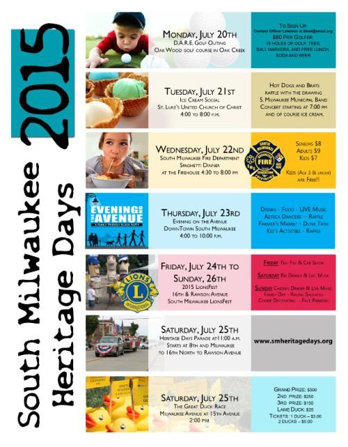 Heritage Days schedule 2