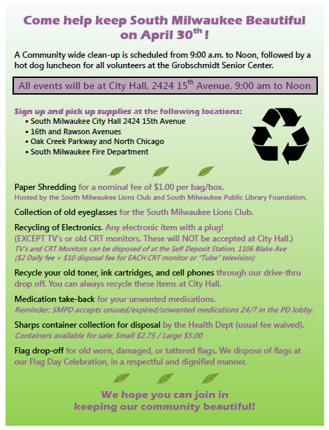 Earth Day flyer 3-31