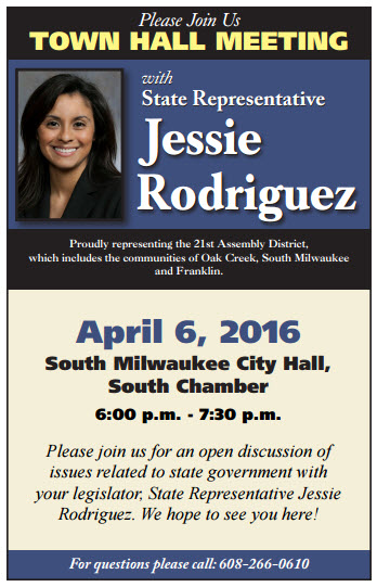 Rodriguez Town Hall flyer