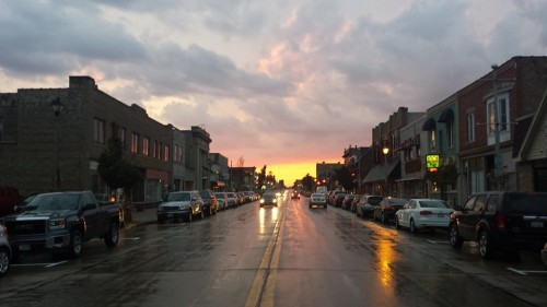 South Milwaukee downtown sunset (1)