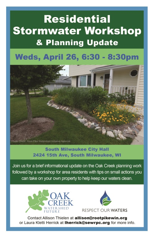 2017-04-26 Residential Stormwater Workshop & Planning Update flyer