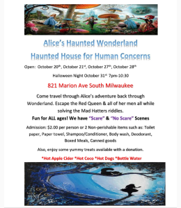 Human Concerns haunted house 2017 flyer