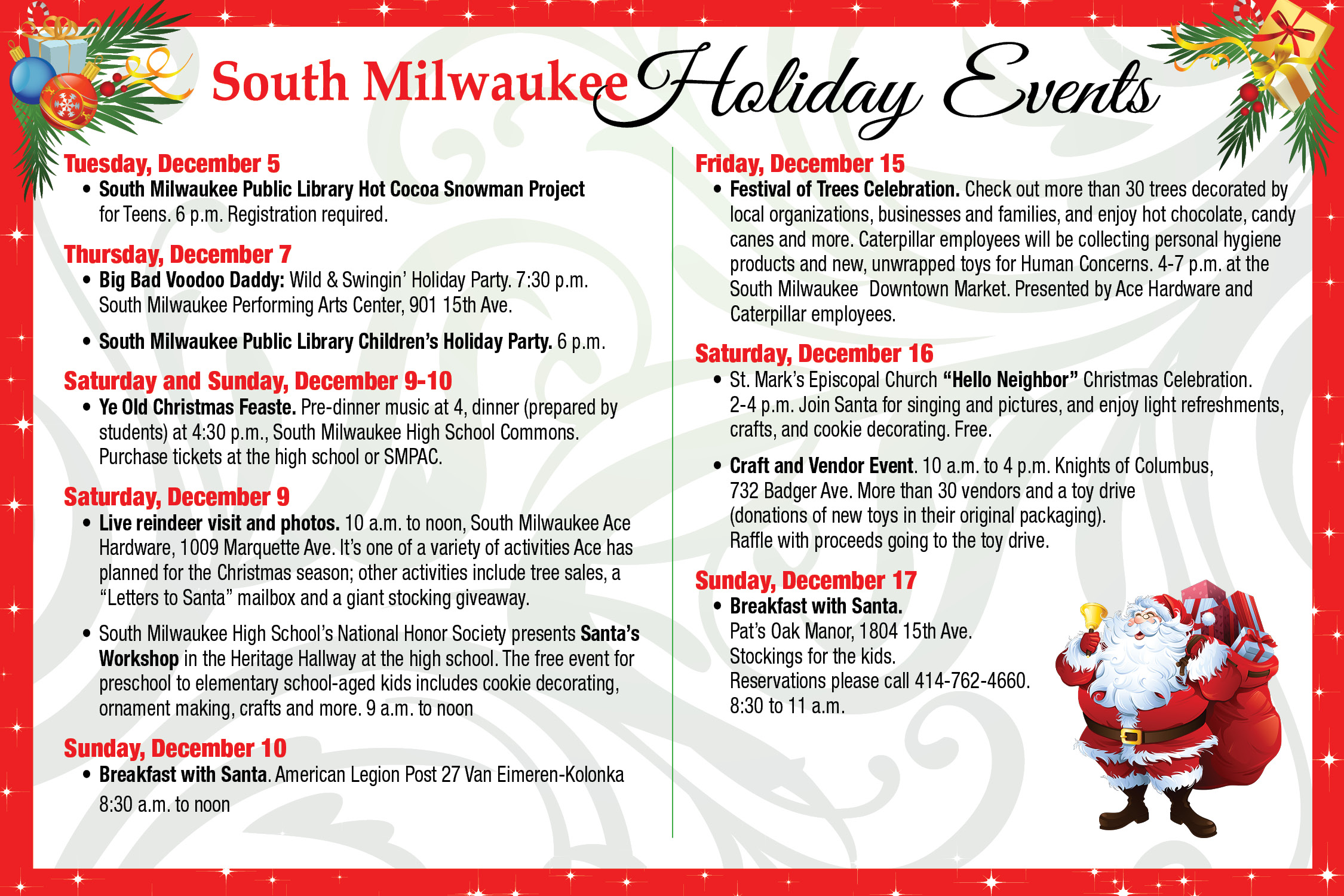 Holiday events update festival of trees celebration set for dec holiday events update festival of trees celebration set for dec 15 south milwaukee blog kristyandbryce Gallery