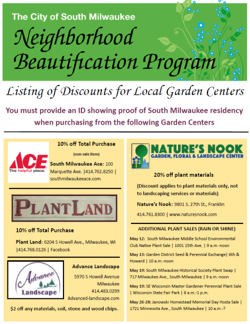 Neighborhood Beautification Program flyer updated