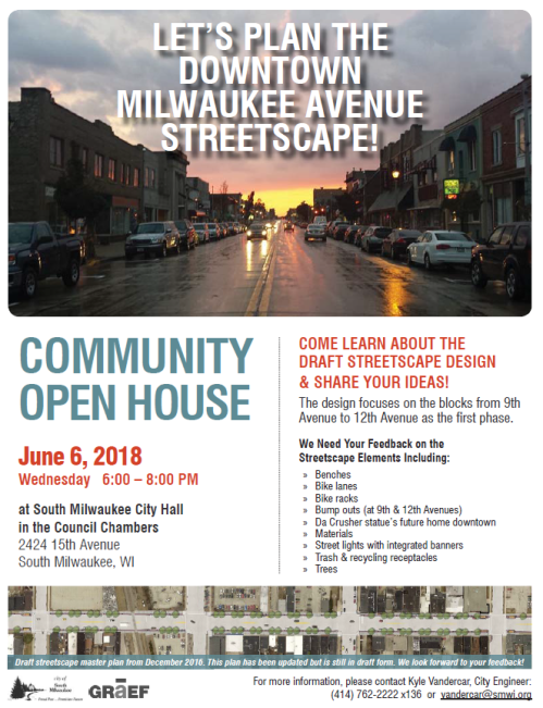 Streetscaping open house flyer
