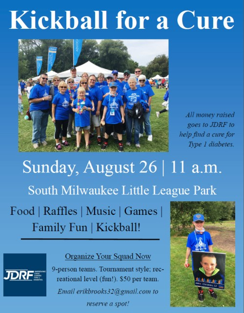 Kickball for a Cure flyer 8-12-18