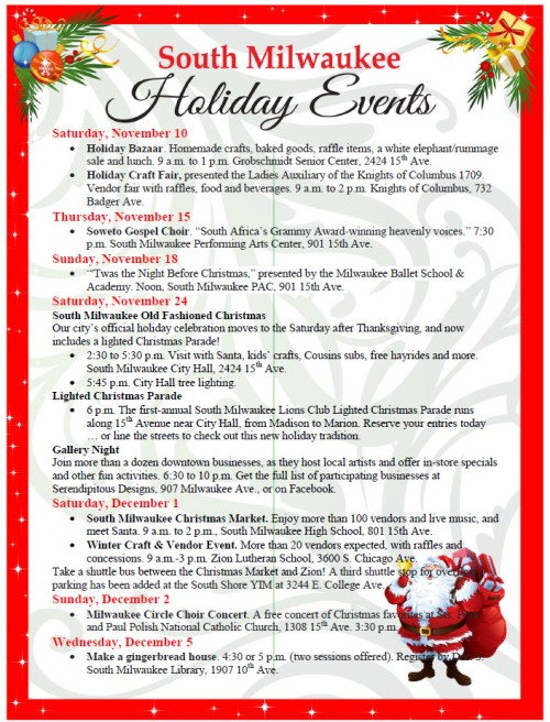 Christmas events 2018 page 1