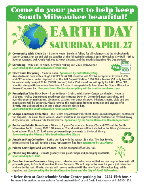 e5d02c0487 Reminder  Earth Day Cleanup is Saturday